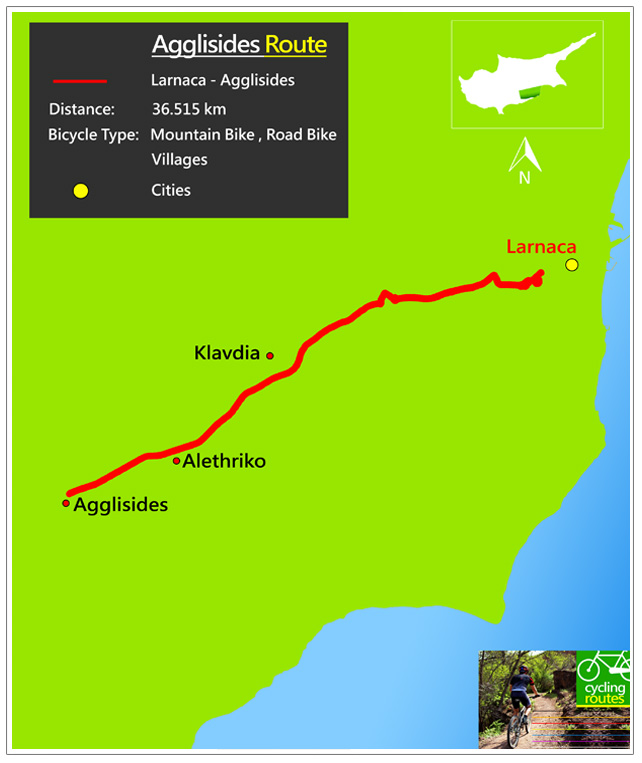 Chypre Agglisides Route Map