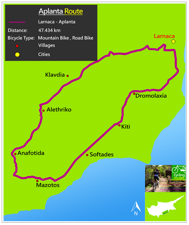 Chypre Aplanta Route Map