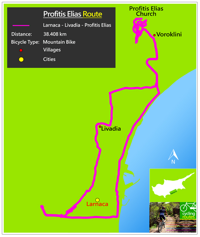 Chypre Profitis Elias Route Map