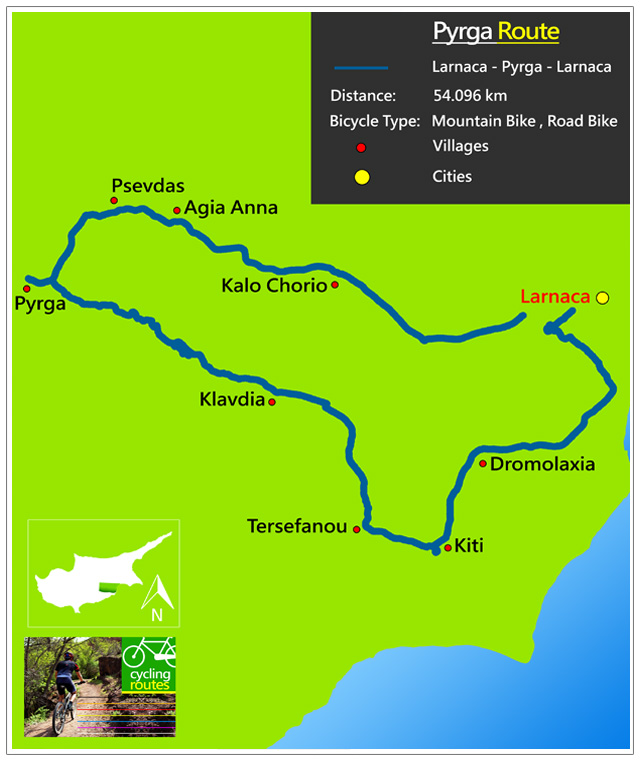 Chypre Pyrga Route Map