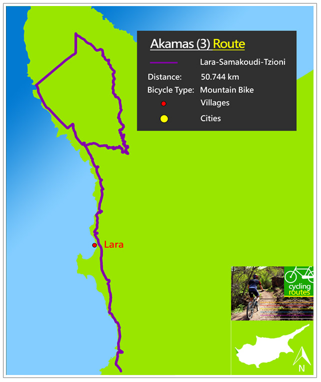 Chypre Akamas 3 Route Map