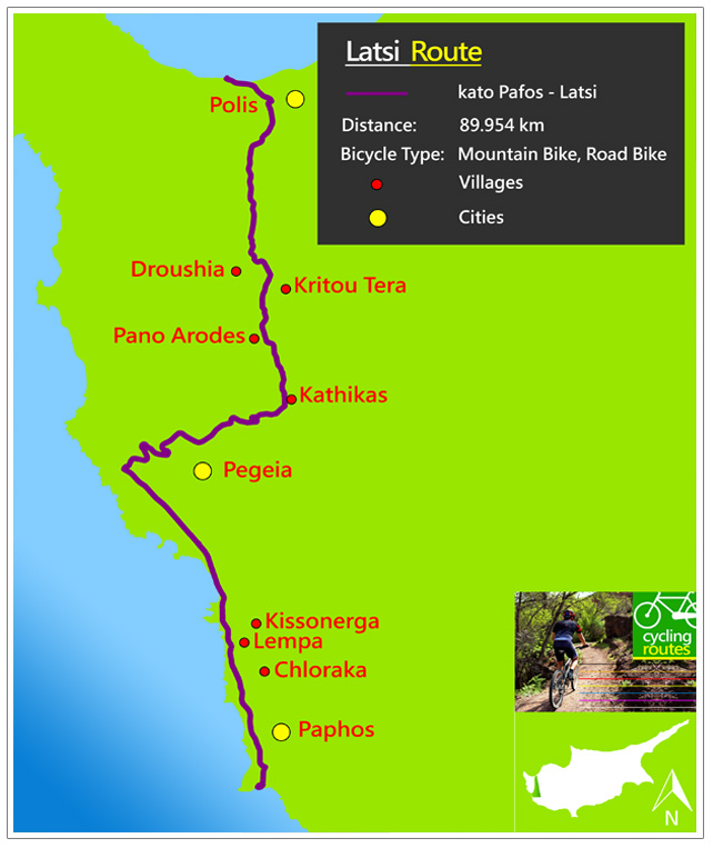 Chypre Latsi Route Map