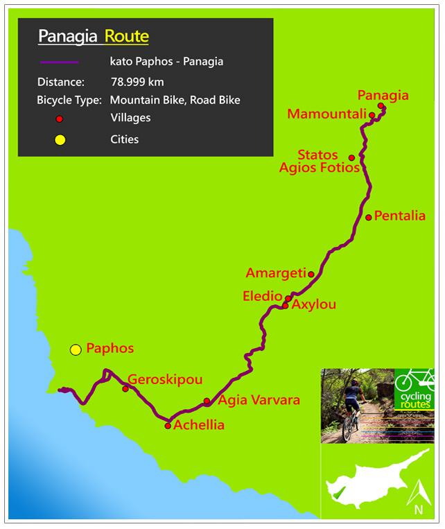 Chypre Panagia Route Map