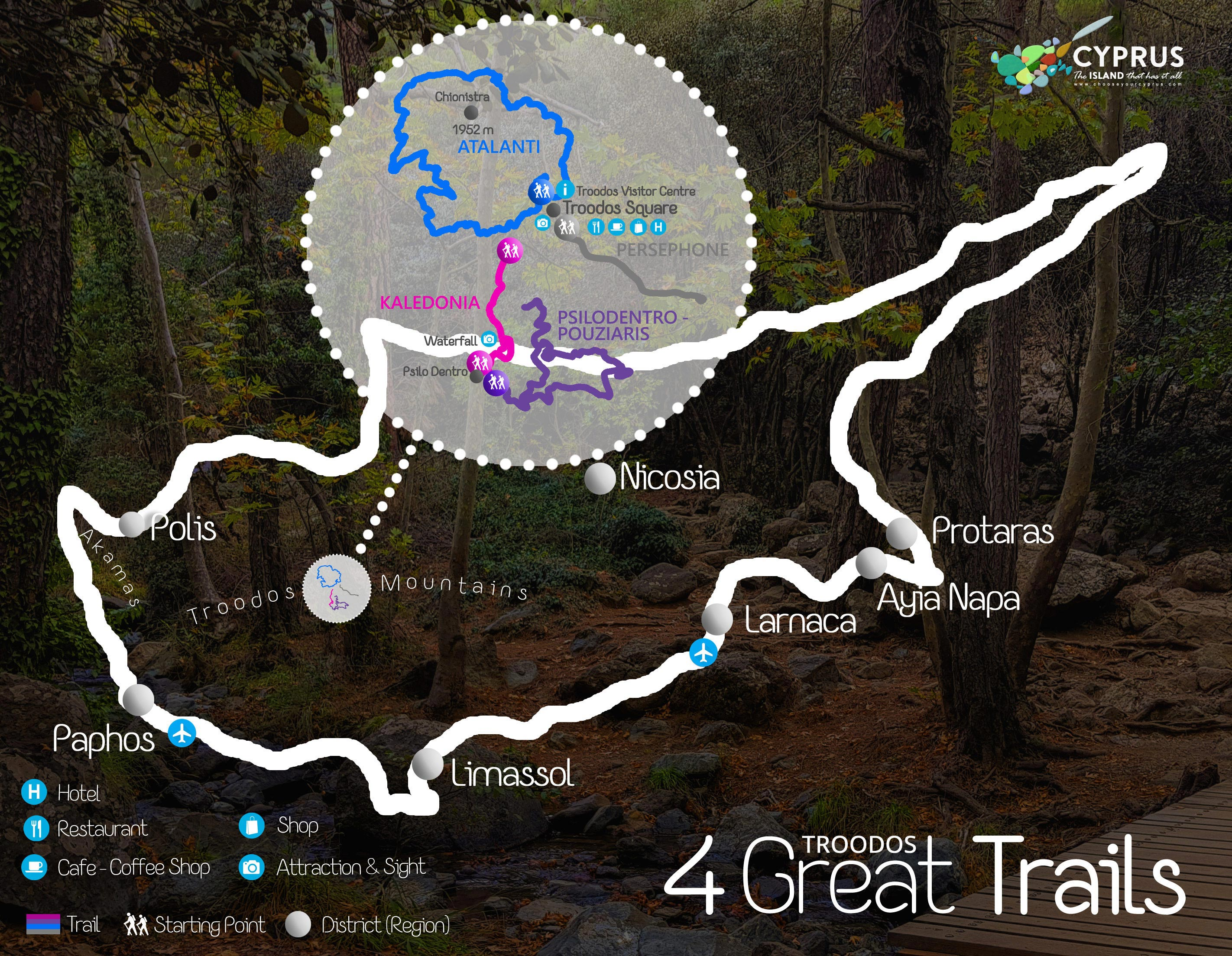Troodos Trails Karte