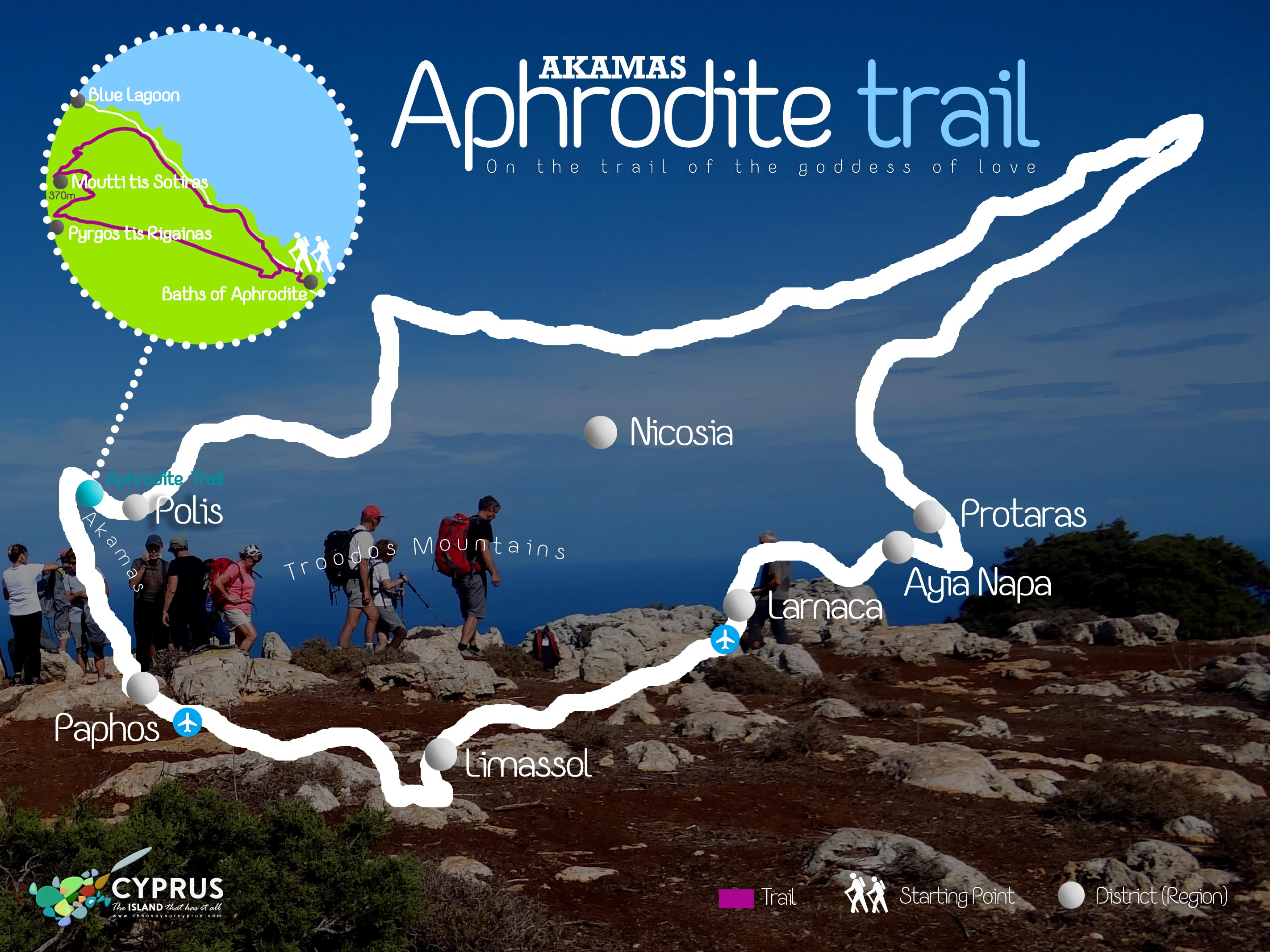 Aphrodite Trail Carte