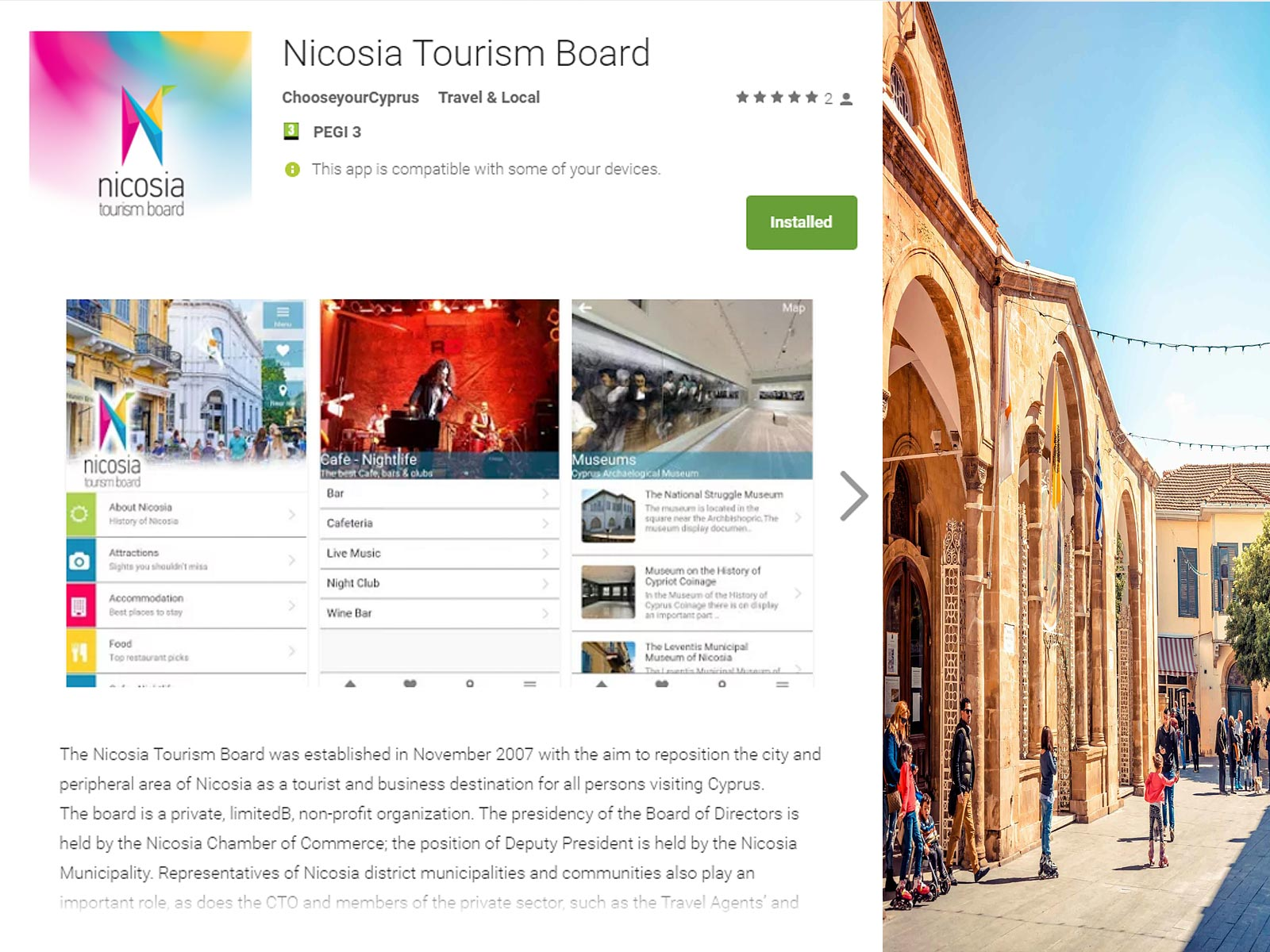 Nicosia application gratuite
