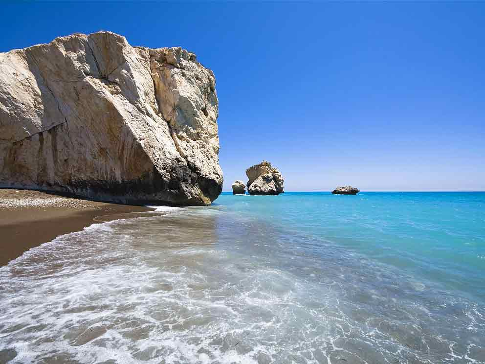 Petra tou Romiou Beach (Aphrodite's Birth Place)