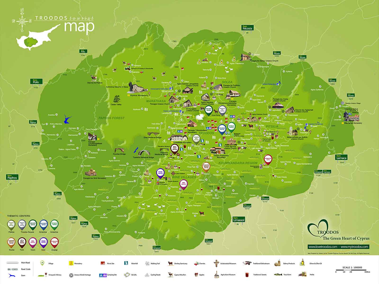 Troodos Maps (General - Thematic)