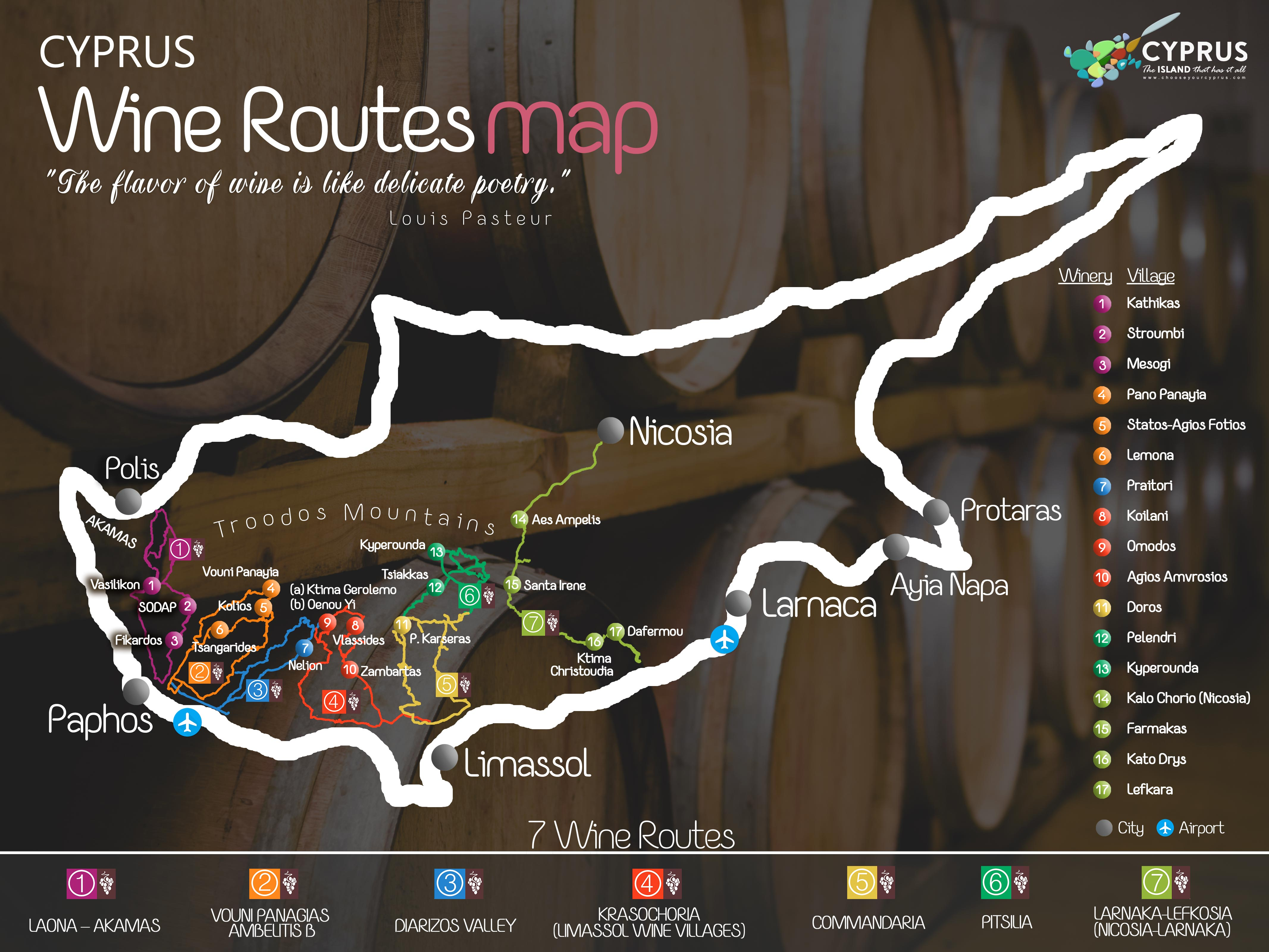 Wine Routes Maps