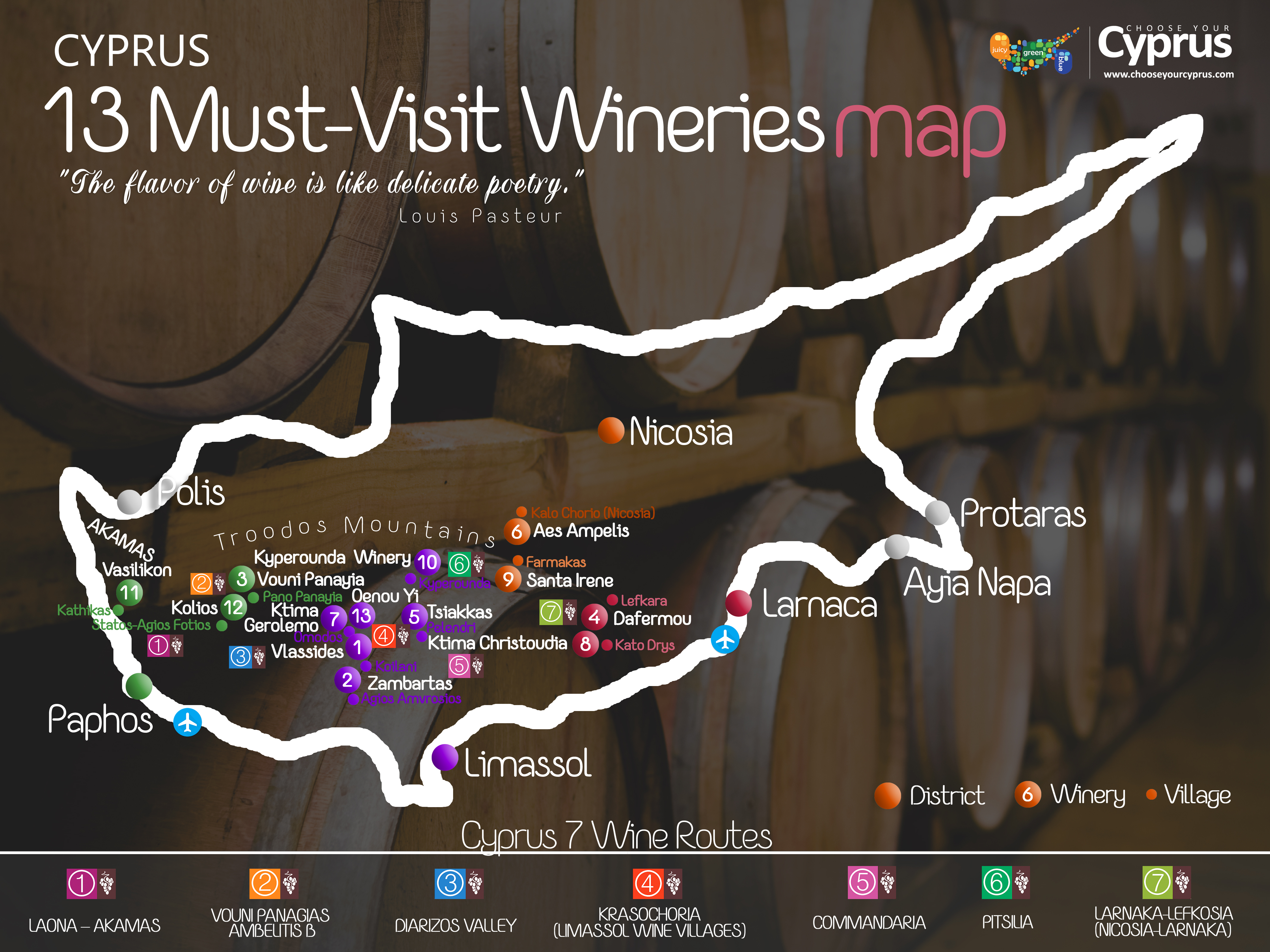 Cyprus must visit wineries enlarge map google map gumiabroncs Choice Image